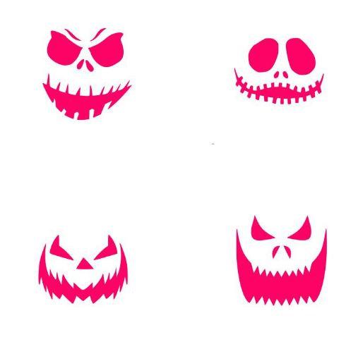 Pumpkin Faces Oreo Stencils from KreativeBakingShop on Etsy Studio.