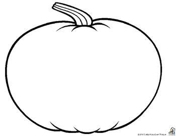 Pumpkin Outline Printable.