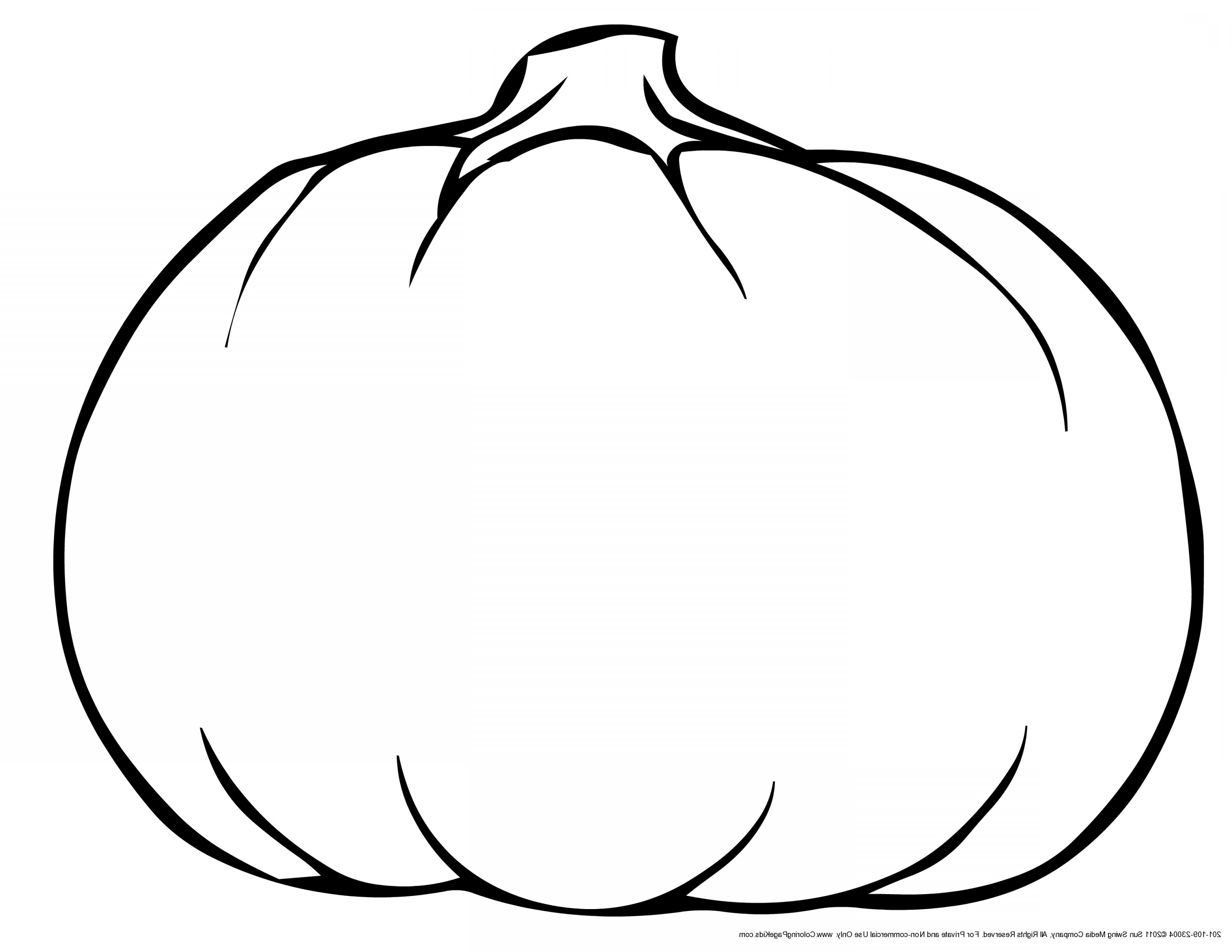 Pumpkin Outline Clipart Black And White (99+ images in.