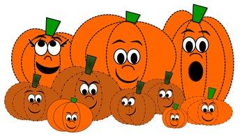 Pumpkin Patch Clip Art Characters.