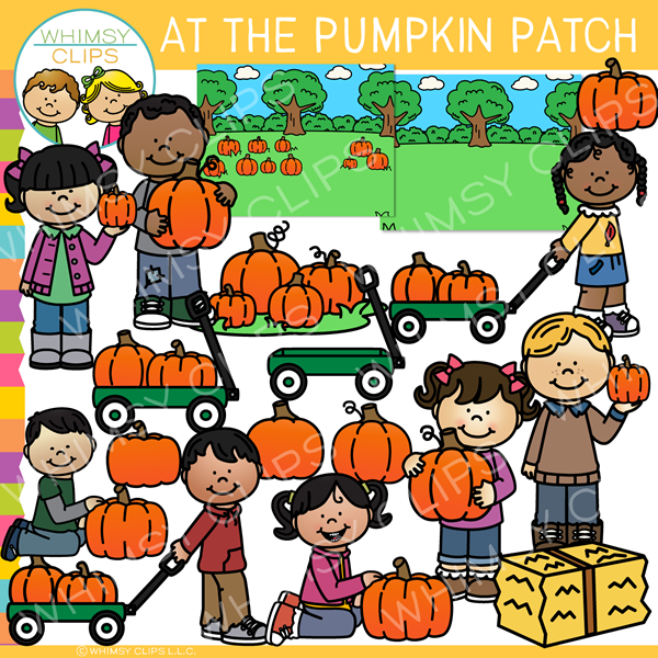 At the Pumpkin Patch Clip Art.
