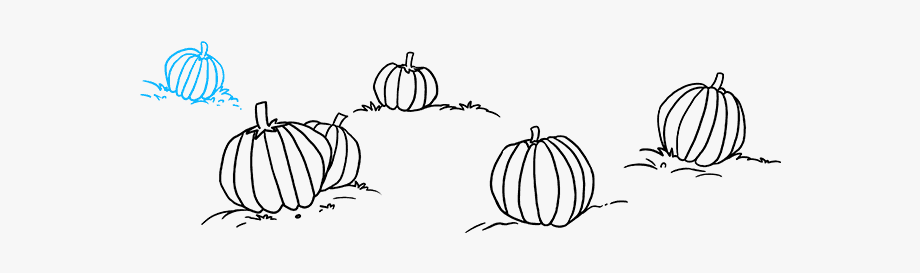 How To Draw Pumpkin Patch.