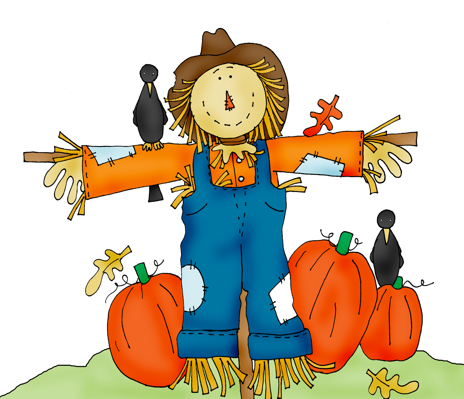 Scarecrow Free Halloween Pumpkin Patch Clipart.