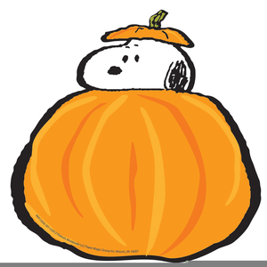 Snoopy Pumpkin Patch Clipart.