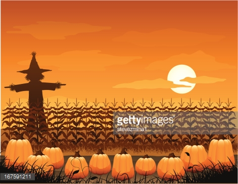 Pumpkin Patch Frame Vector Art.
