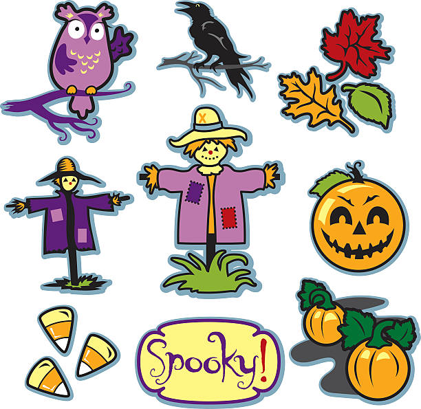 Spooky Pumpkin Patch Clip Art, Vector Images & Illustrations.