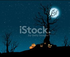 Spooky Pumpkin Patch stock vectors.