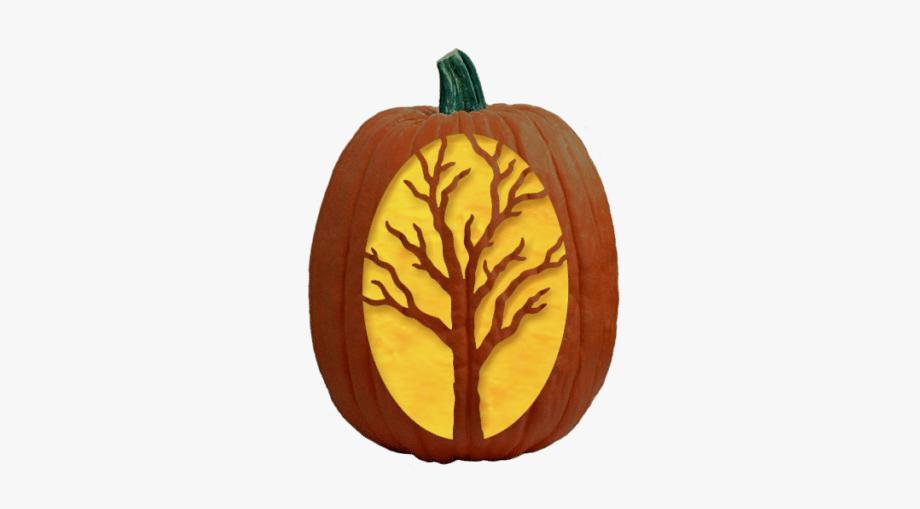 Creepy Tree Pumpkin Carving Pattern.