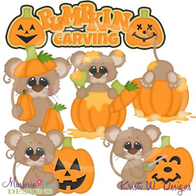 Pumpkin Carving Fun SVG Cutting Files Includes Clipart.