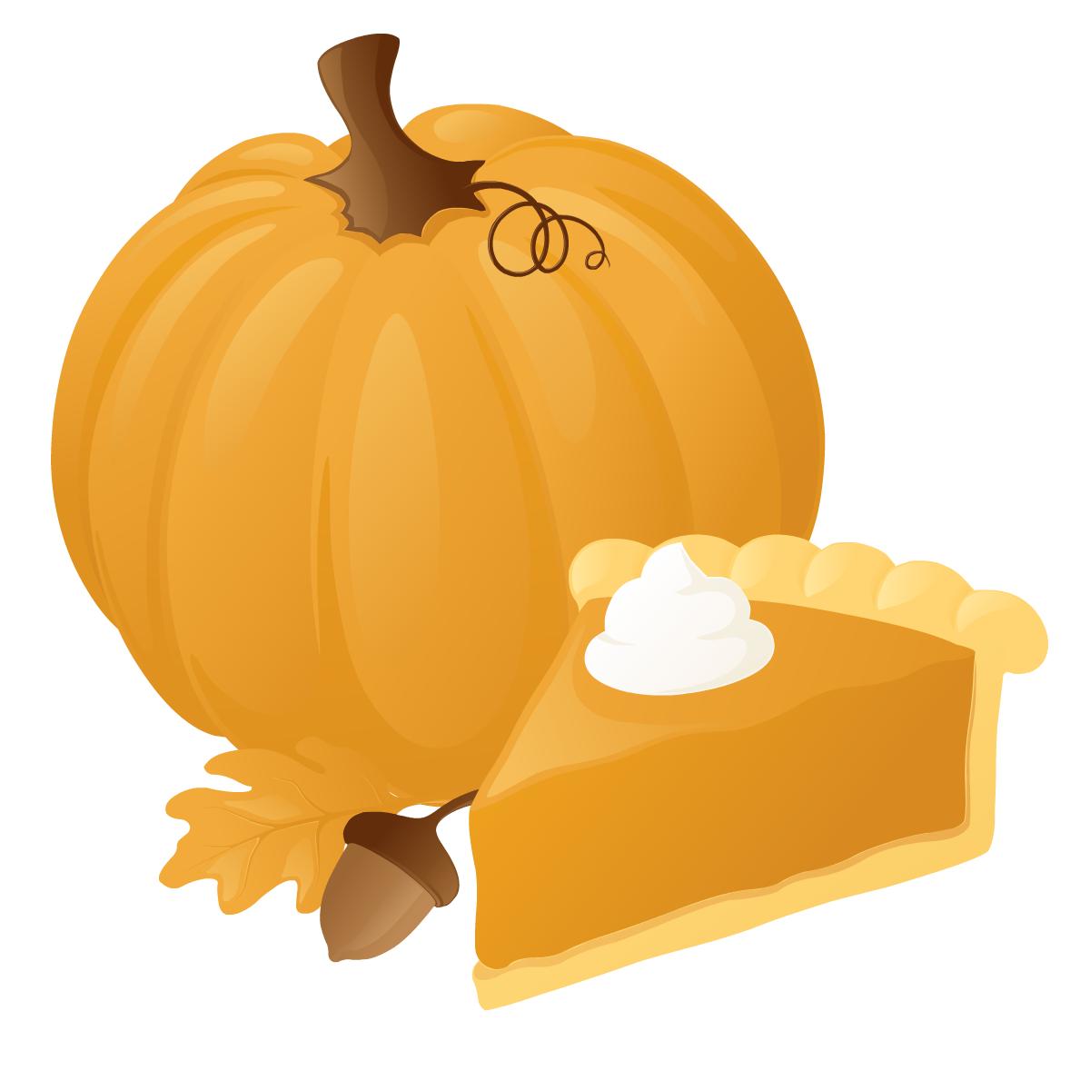 Pumpkin pie clipart 3.