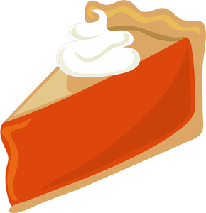 Whole pumpkin pie clipart.