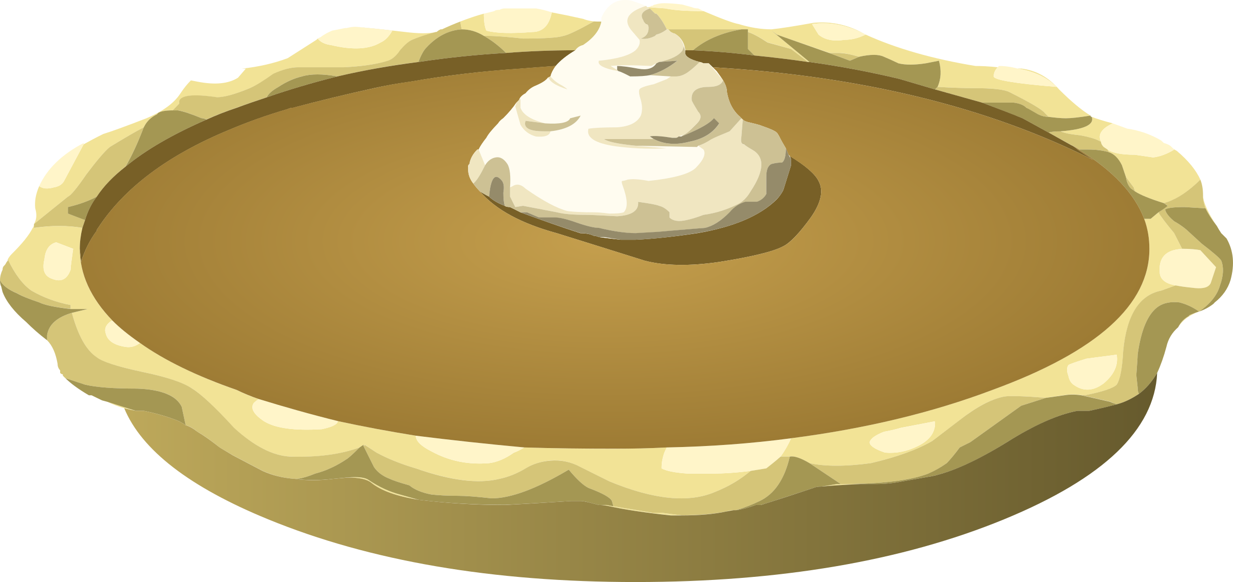 Baking pumpkin pie clipart.