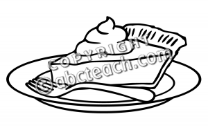 Black And White Pumpkin Pie Clipart.
