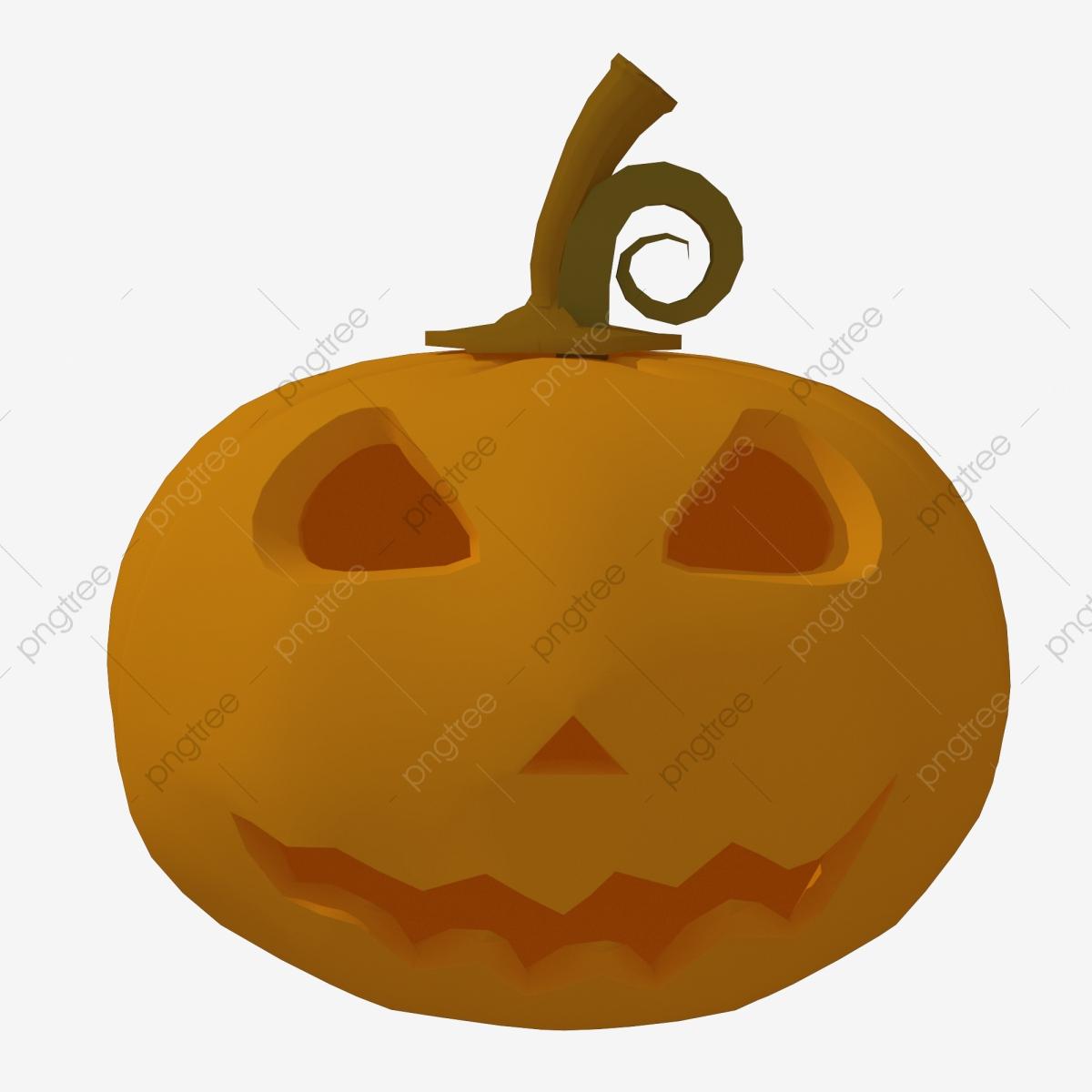 Halloween C4d Cartoon Smiley Devil Pumpkin, Devil Pumpkin.