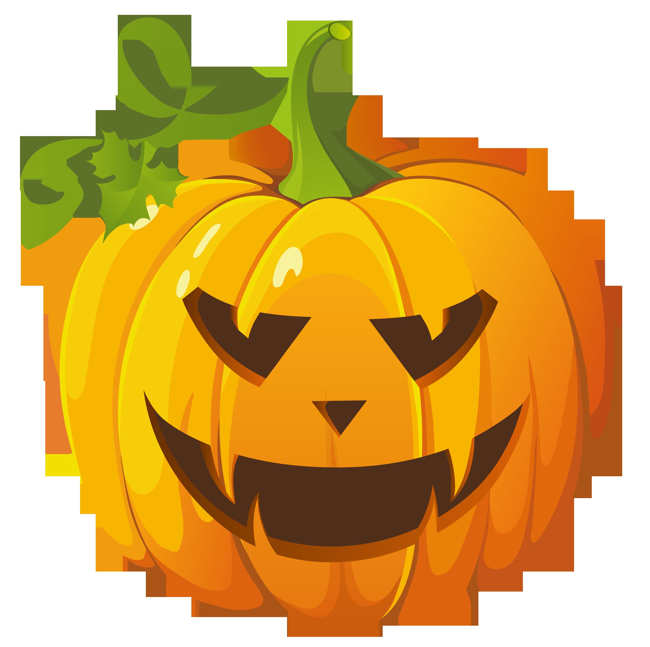 Transparent Halloween Pumpkin Png Clipart.