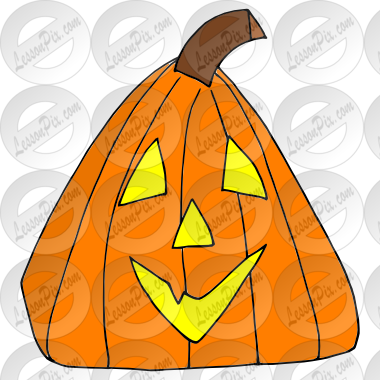 Triangle Pumpkin Picture for Classroom / Therapy Use.