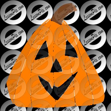 Triangle Pumpkin Stencil for Classroom / Therapy Use.