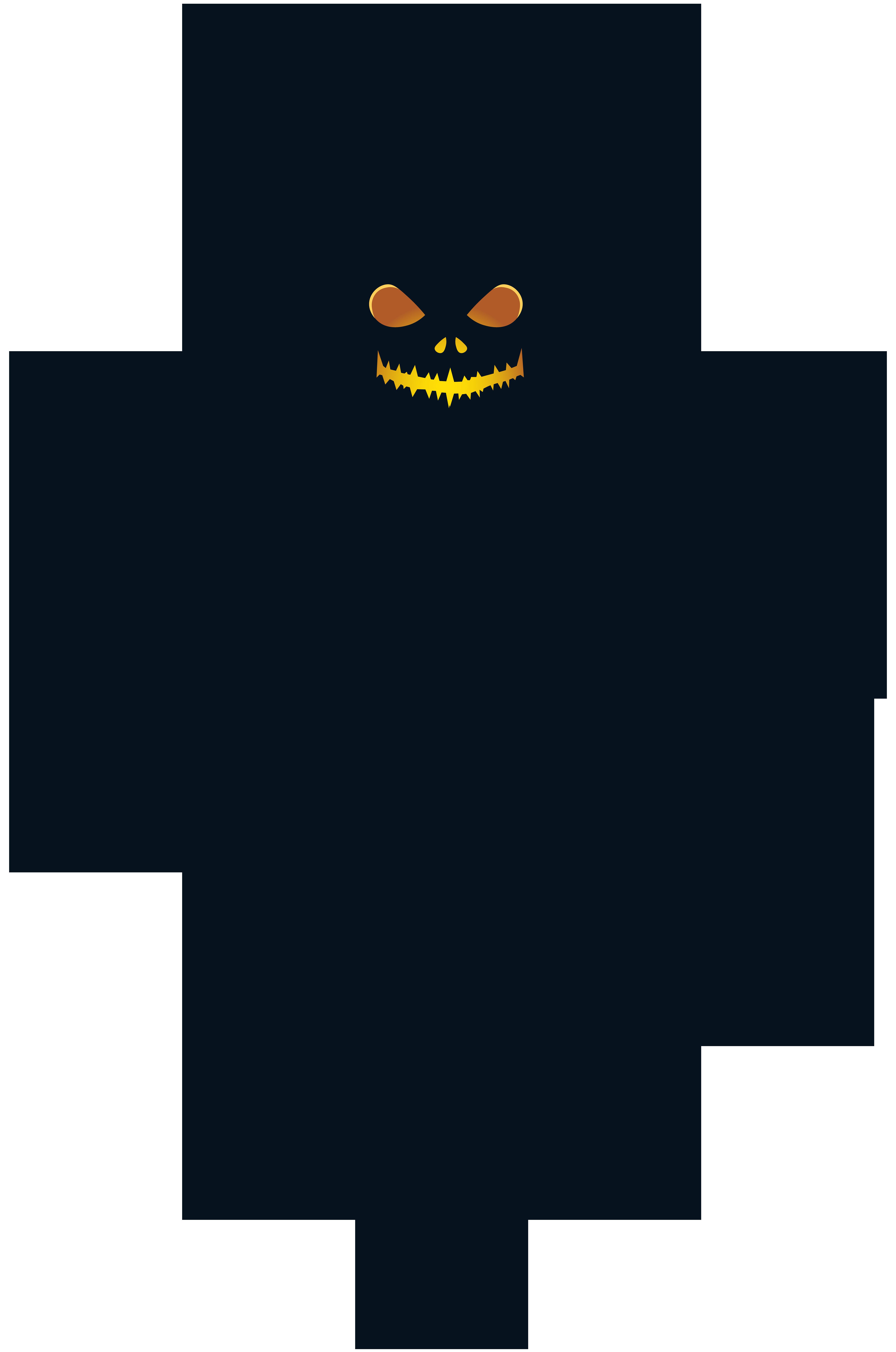 Halloween Pumpkin Scarecrow PNG Clip Art Image.