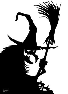 Halloween Witch Silhouette Printables.