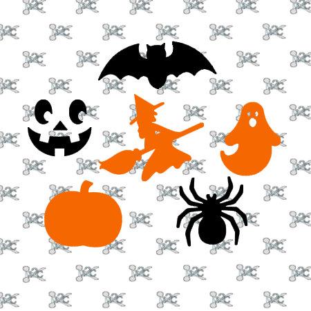 Halloween Svg File Design Silhouette Studio, Bat, Ghost, Pumpkin.