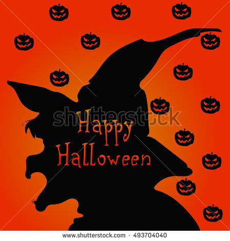 Witch Face Stock Images, Royalty.