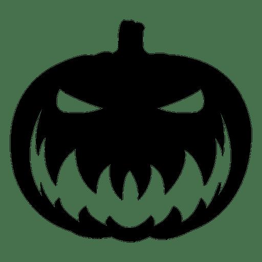 Creepy pumpkin face.