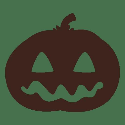 Halloween pumpkin mask silhouette.