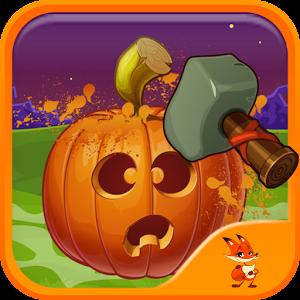 Halloween pumpkin smash.