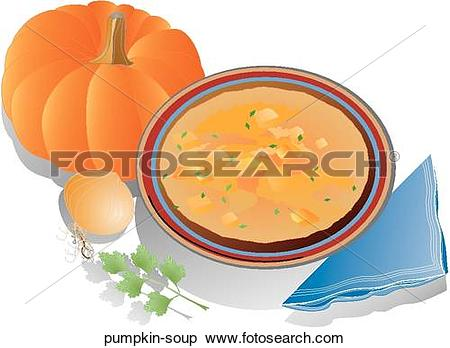 Stock Illustration of Pumpkin Soup pumpkin.