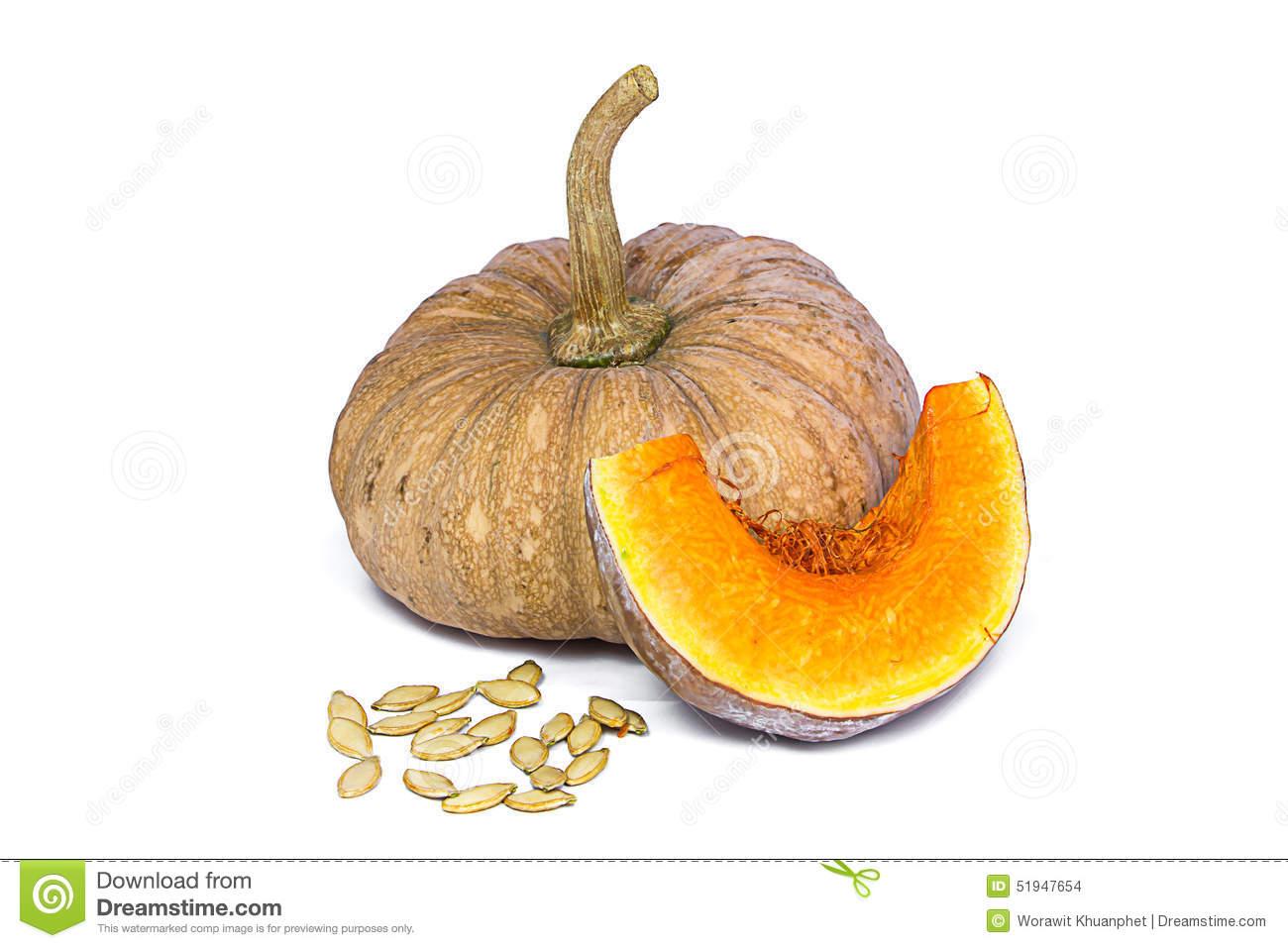 Species Thai Pumpkin On White Background Stock Photo.