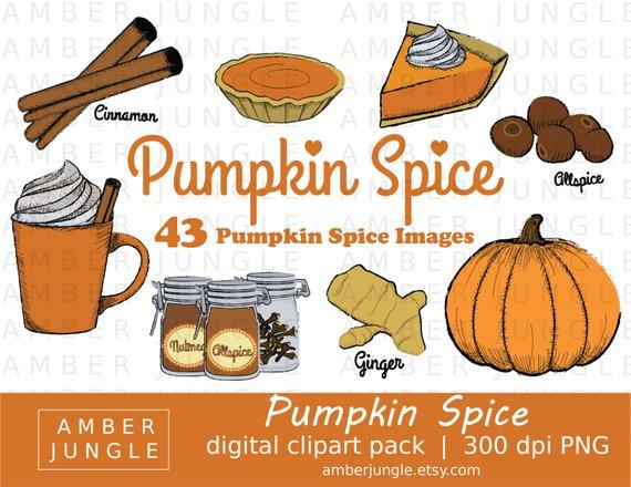 Pumpkin Spice Clipart.