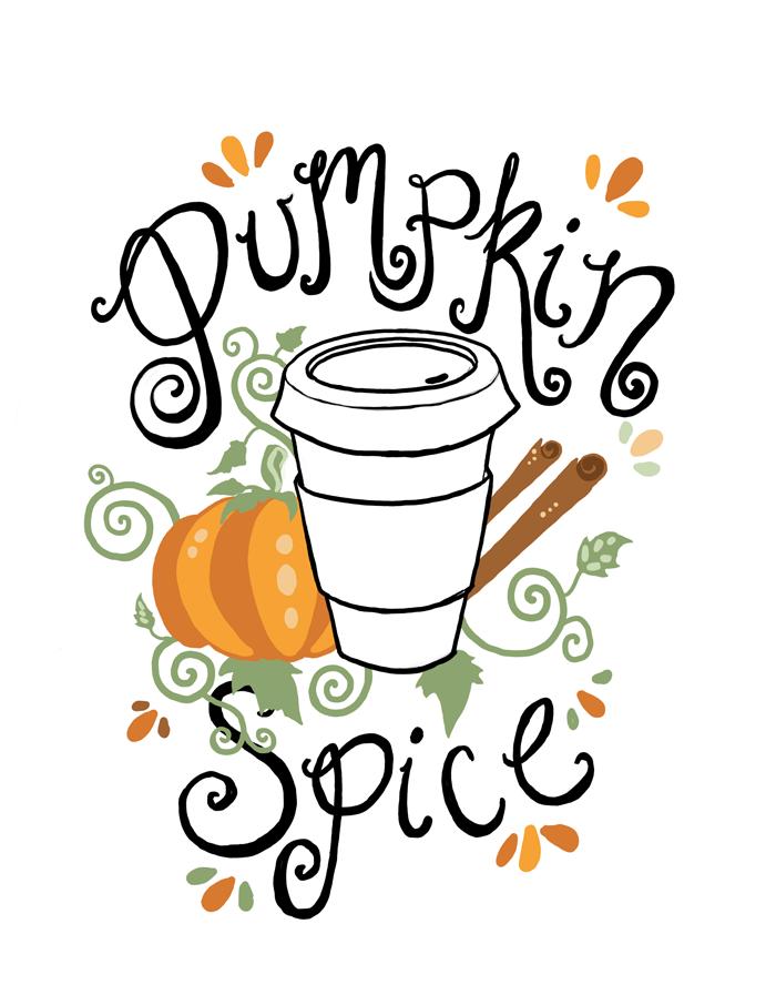 Pumpkin Spice Latte Clipart.