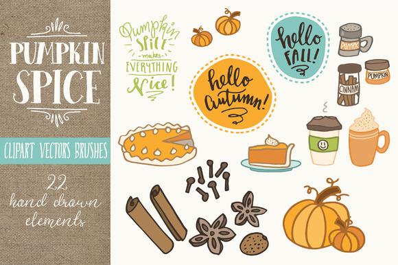 Pumpkin Spice Clip Art.