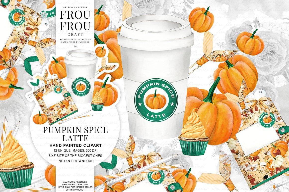 Pumpkin Spice Latte Clipart ~ Illustrations ~ Creative Market.