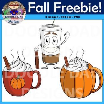 Free Fall Clip Art (Pumpkin Spice Latte, Coffee, Hot Chocolate).