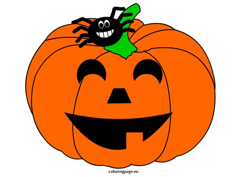 Pumpkin with spider.