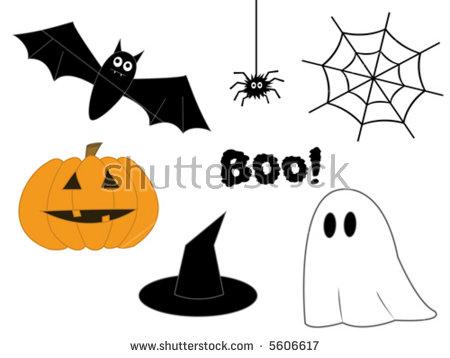 Halloween Clipart Pumpkin Bat Spider Web Stock Vector 5606617.