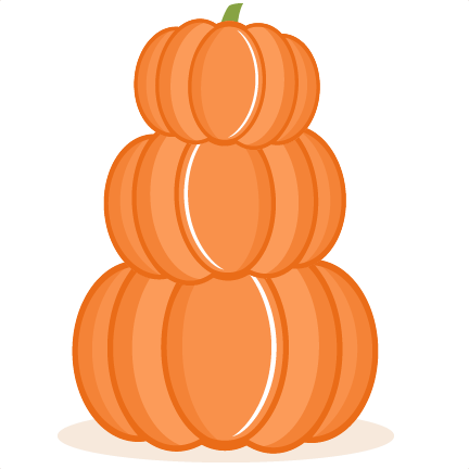Stacked Pumpkins Clipart.