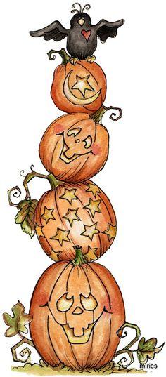 Pumpkin pile clipart.