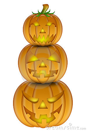 Stacked pumpkin clipart.