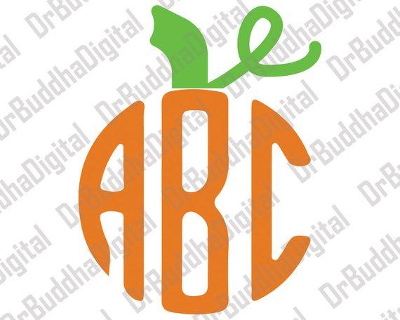 Pumpkin Stem Monogram Topper SVG Collection.