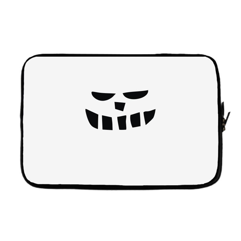 Smiling Teeth Pumpkin Face Laptop Sleeve. By Artistshot.