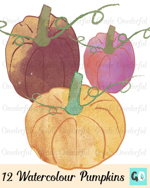 New Product: Watercolour Pumpkin Clipart.