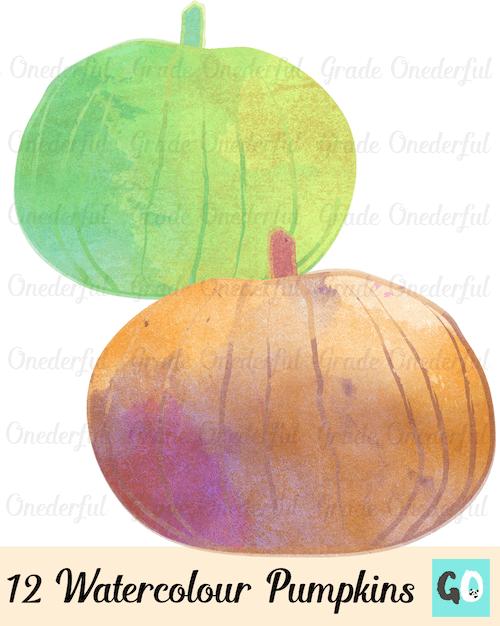 New Product: Watercolour Pumpkin Clipart.