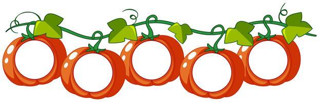 Pumpkin Vine Free Vector Art.