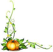 Pumpkin Vine Clip Art.
