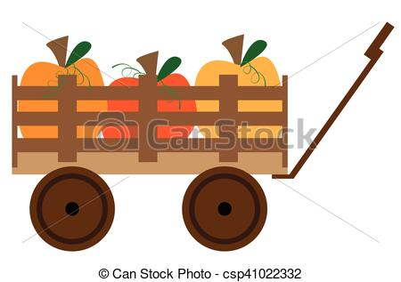 Vectors of Pumpkin Wagon csp41022332.