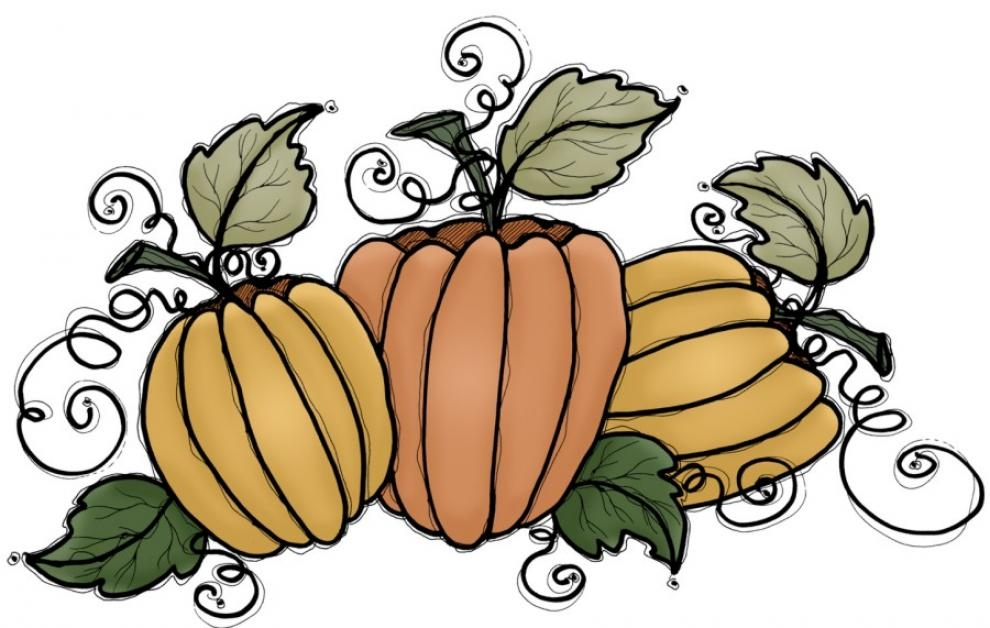 Fancy Pumpkin Clipart.