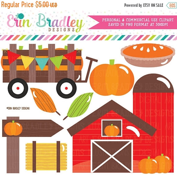 70% OFF SALE Pumpkin Patch Clipart Set Pumpkin Pie Farm.