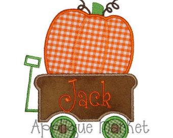 Pumpkin wagon.
